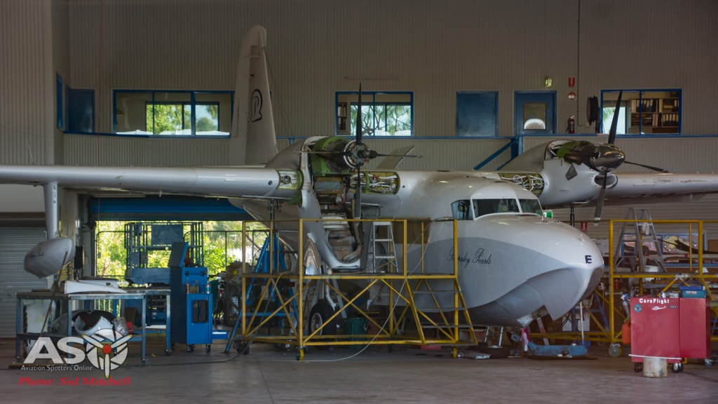 VH-PPE in the hangar