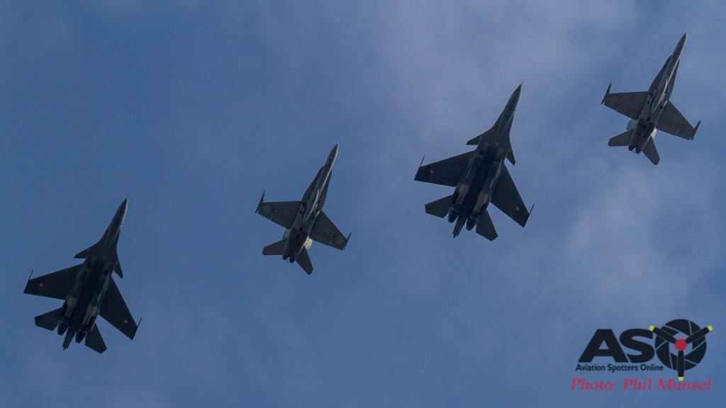 Sukhoi Su-30MKI & Hornet Returning