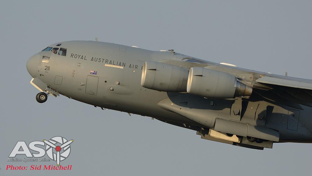 C-17 departing Darwin