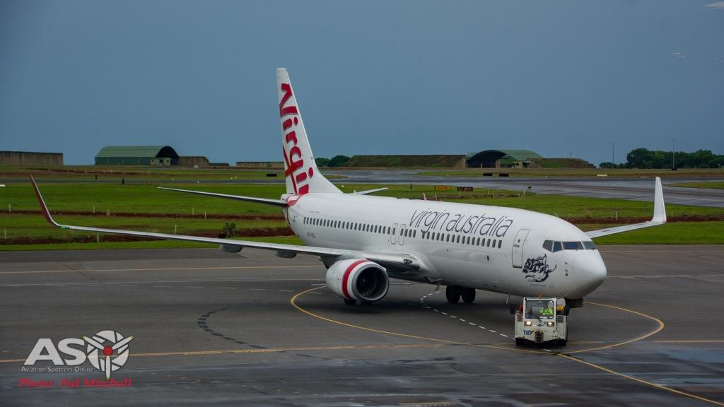 Virgin Australia B737 on pushback