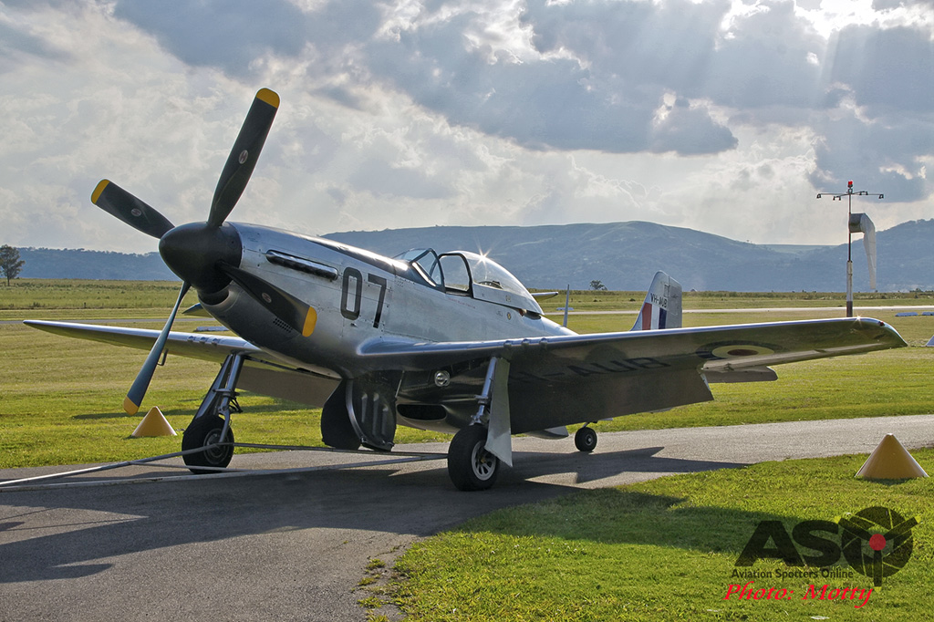 Mottys Flight of the Hurricane Scone 1 0333 CAC Mustang VH-AUB-001-ASO