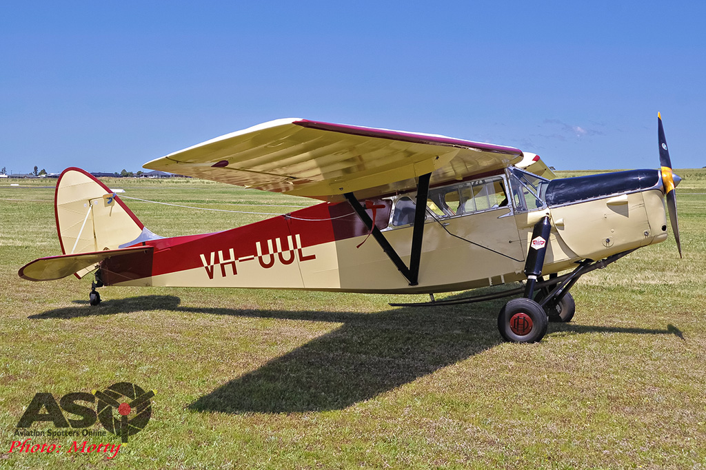 Mottys Flight of the Hurricane Scone 2 0170 Leopard Moth VH-UUL -001-ASO