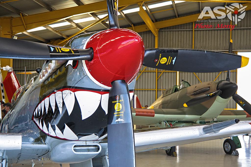 Mottys Flight of the Hurricane Scone 2 0377 Spitfire MkVIII VH-HET & Hurricane VH-JFW-001-ASO