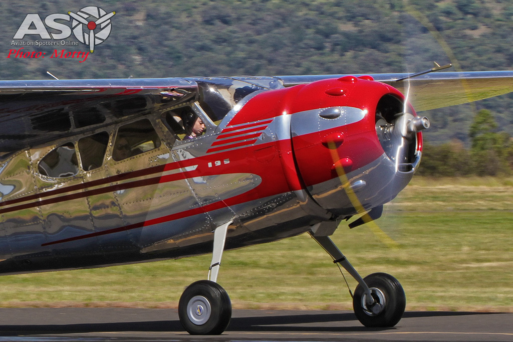 Mottys Flight of the Hurricane Scone 2 0662 Cessna 195 VH-KXR-001-ASO