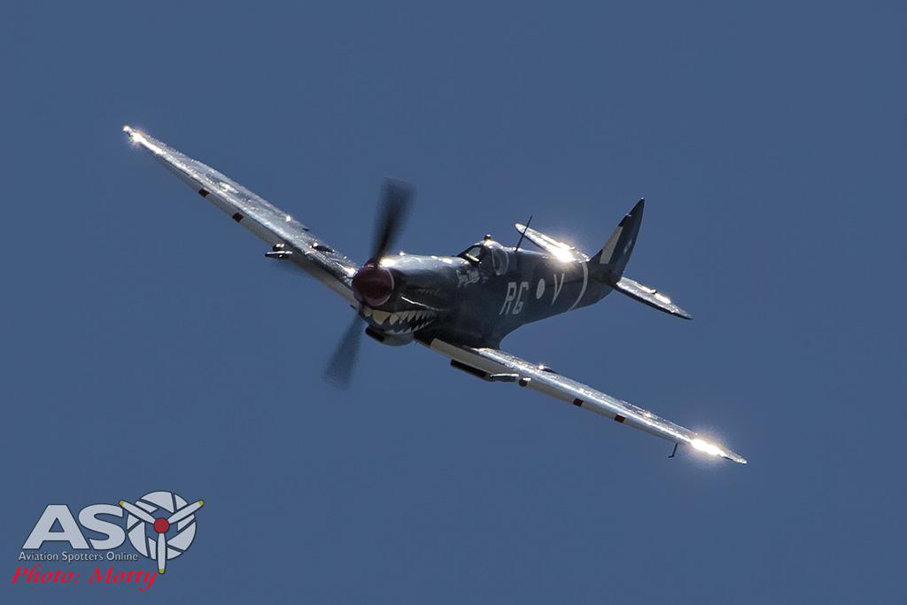Mottys Flight of the Hurricane Scone 2 4378 Spitfire MkVIII VH-HET-001-ASO