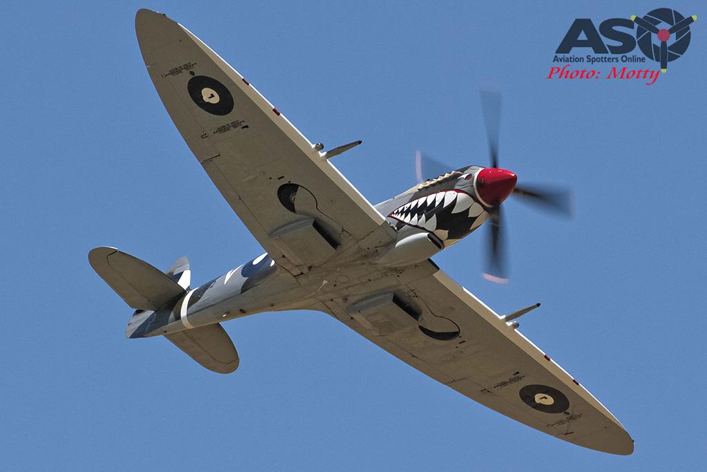 Mottys Flight of the Hurricane Scone 2 4498 Spitfire MkVIII VH-HET-001-ASO
