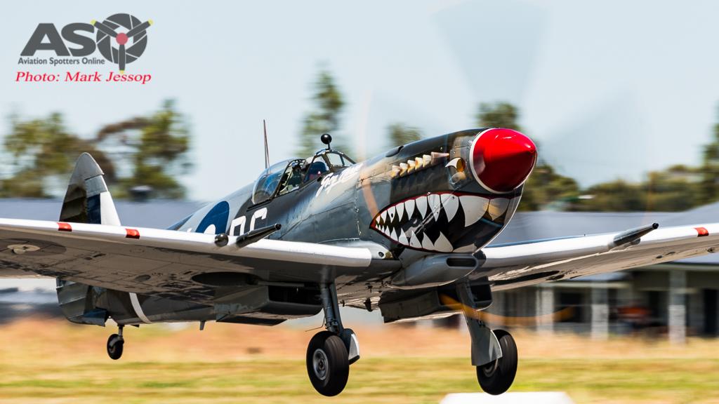 TAM MK.VIII Spitfire taking off.