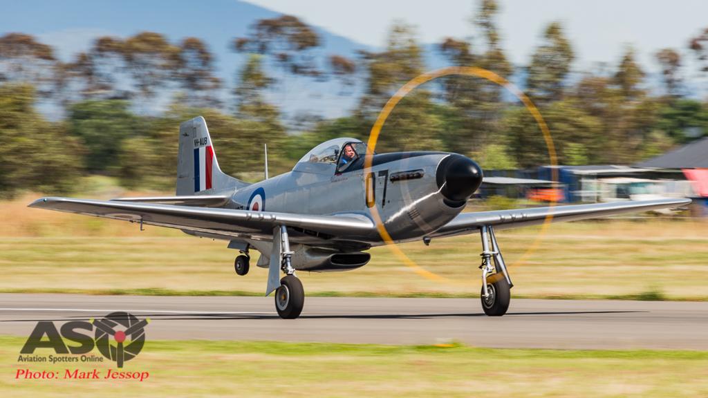 CAC Mustang launching into flight.