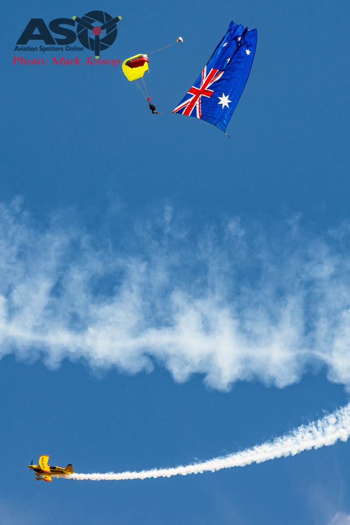 Paul Bennet lapping around the Australian Flag