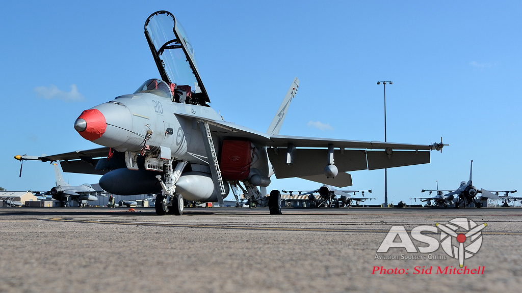 F-18F Super Hornet parked at Darwin