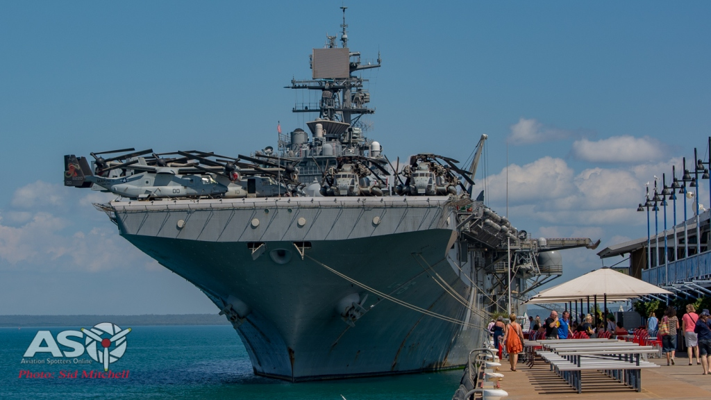 USS Bonhomme Richard at dock Darwin