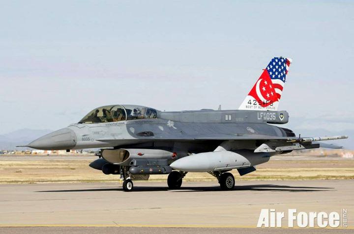 RSAF General Dynamics F-16D, Peace Carvin II Detachment, Luke Air Force Base, Arizona, USA (Photo credit: RSAF)