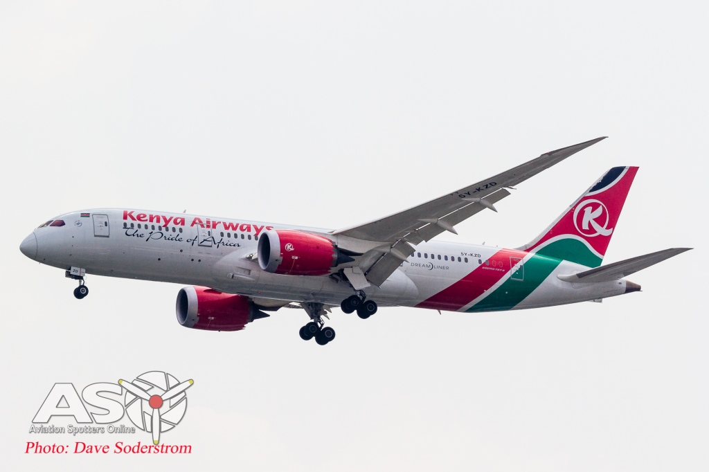 5Y-KZD Kenya Airways Boeing 787 ASO (1 of 1)