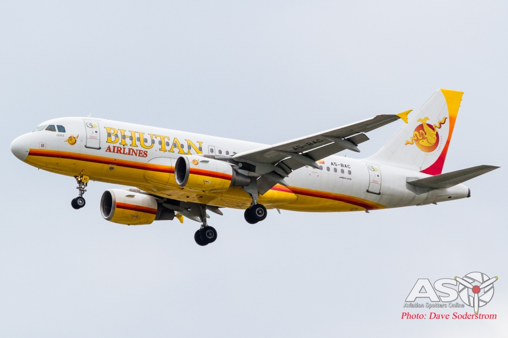 A5-BAC Bhutan Airlines Airbus A319 ASO (1 of 1)