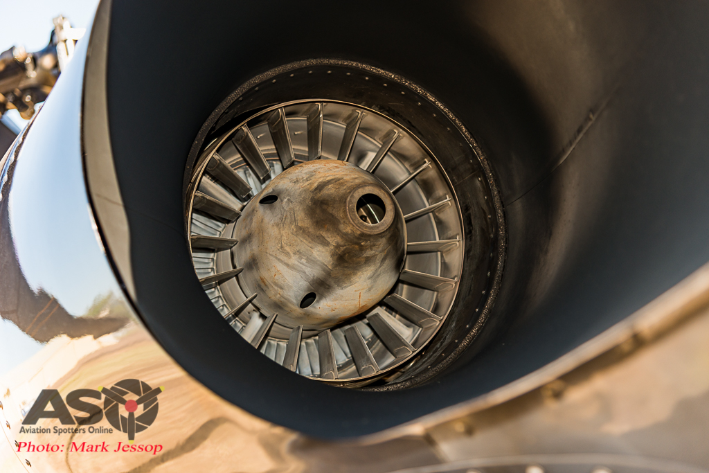 Timberline Blackhawk exhaust detail.