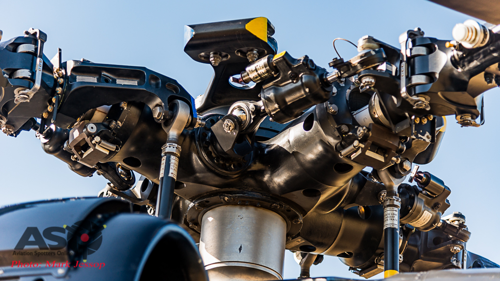 Timberline Blackhawk main rotor detail.
