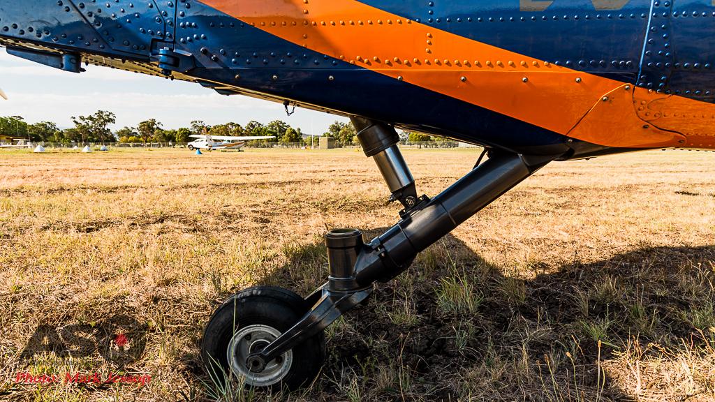 Timberline Blackhawk tail wheel detail.