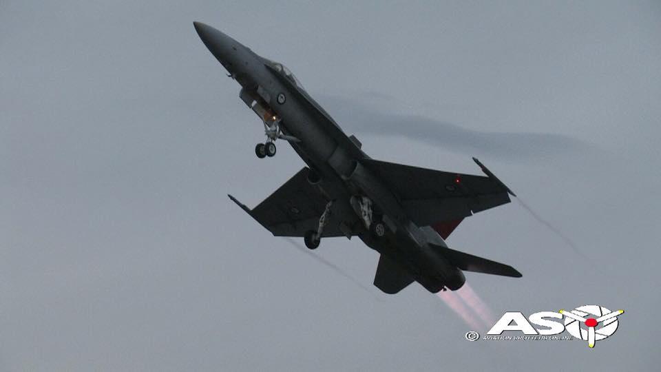 F/A-18A Hornet Friday night display Avalon International Airshow