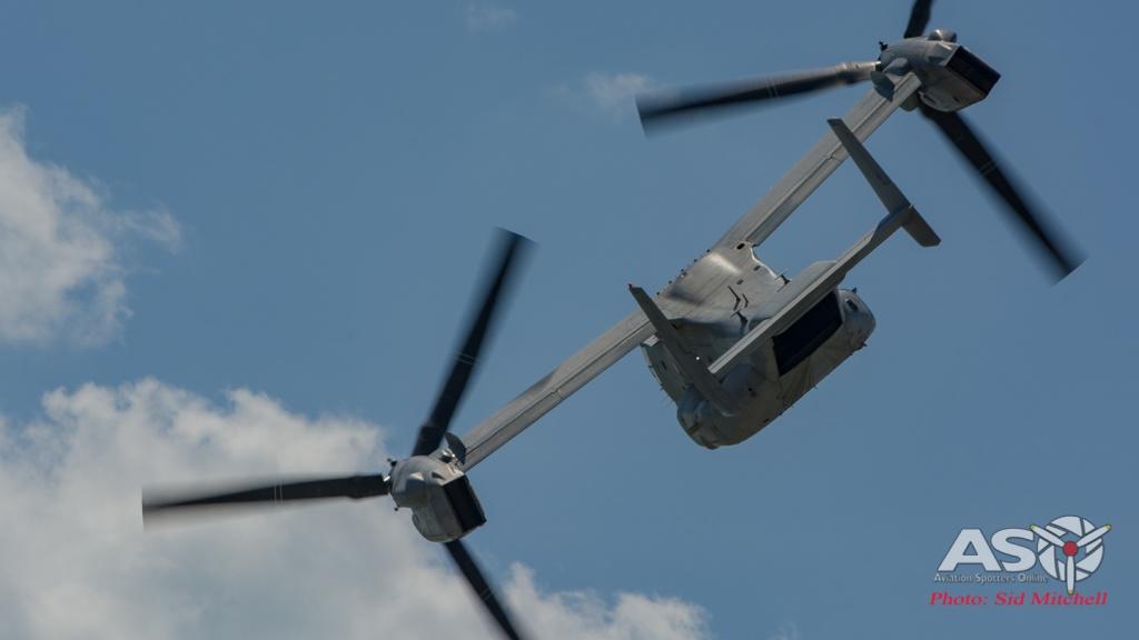 MV22B Osprey from VMM-268 low pass