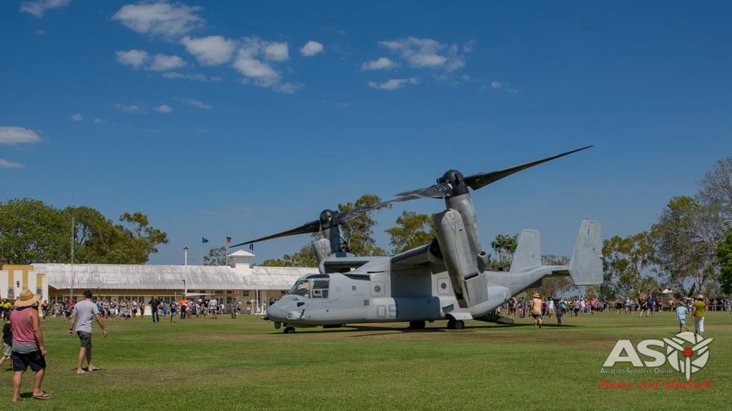 MV22B Osprey from VMM-268 on display