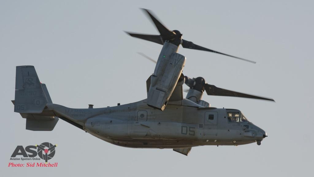 MV22B Osprey from VMM-268 departing Larrakeyah