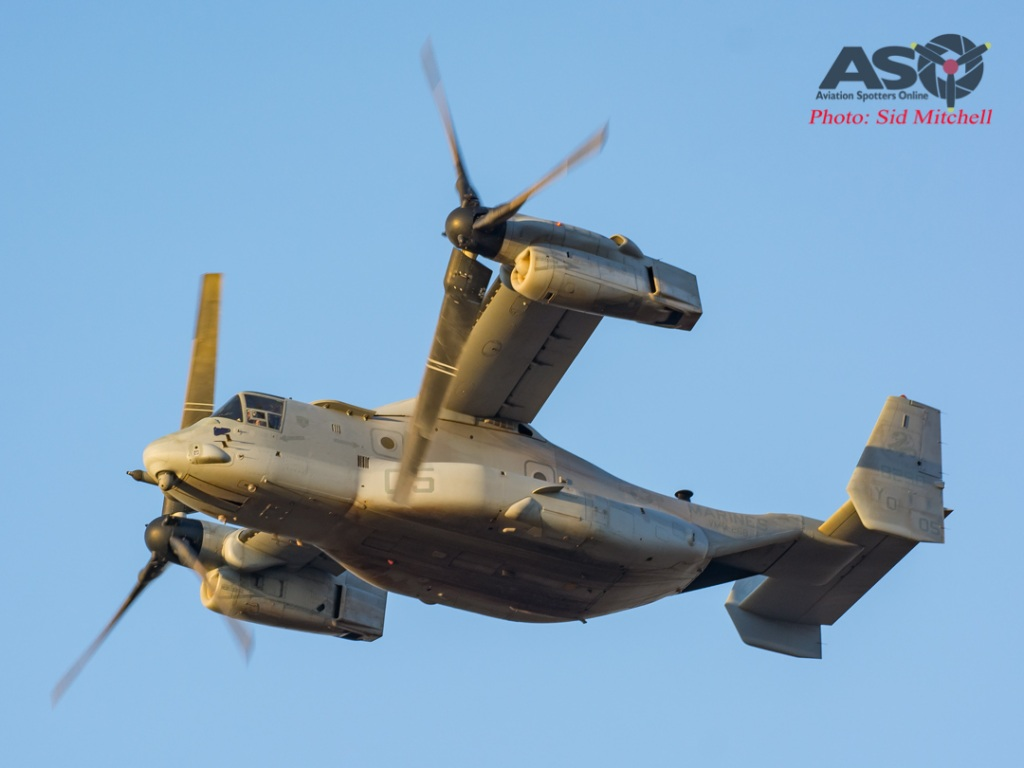 MV22B Osprey from VMM-268 practicing approaches