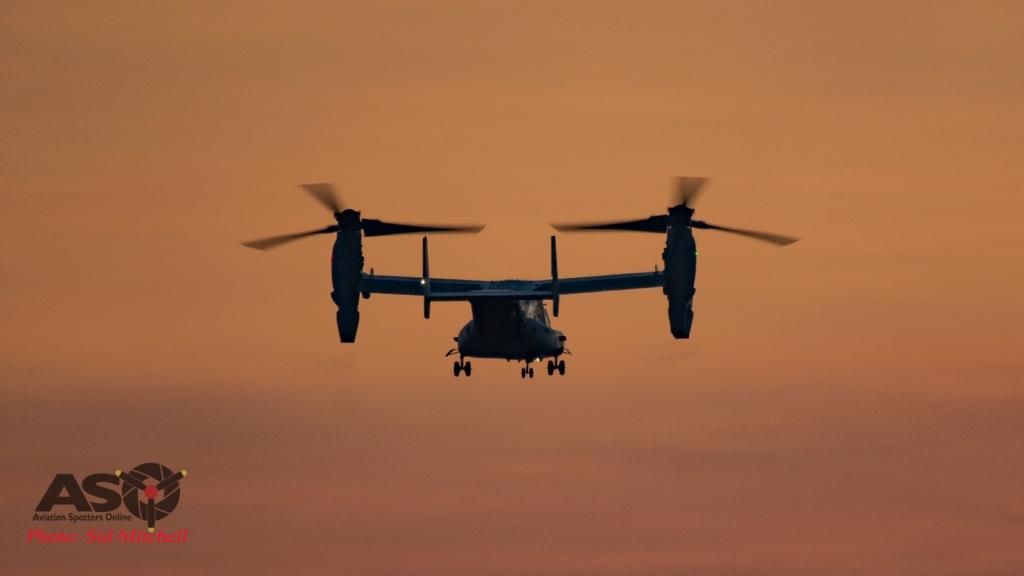 MV22B Osprey from VMM-268 landing RAAF Base Darwin