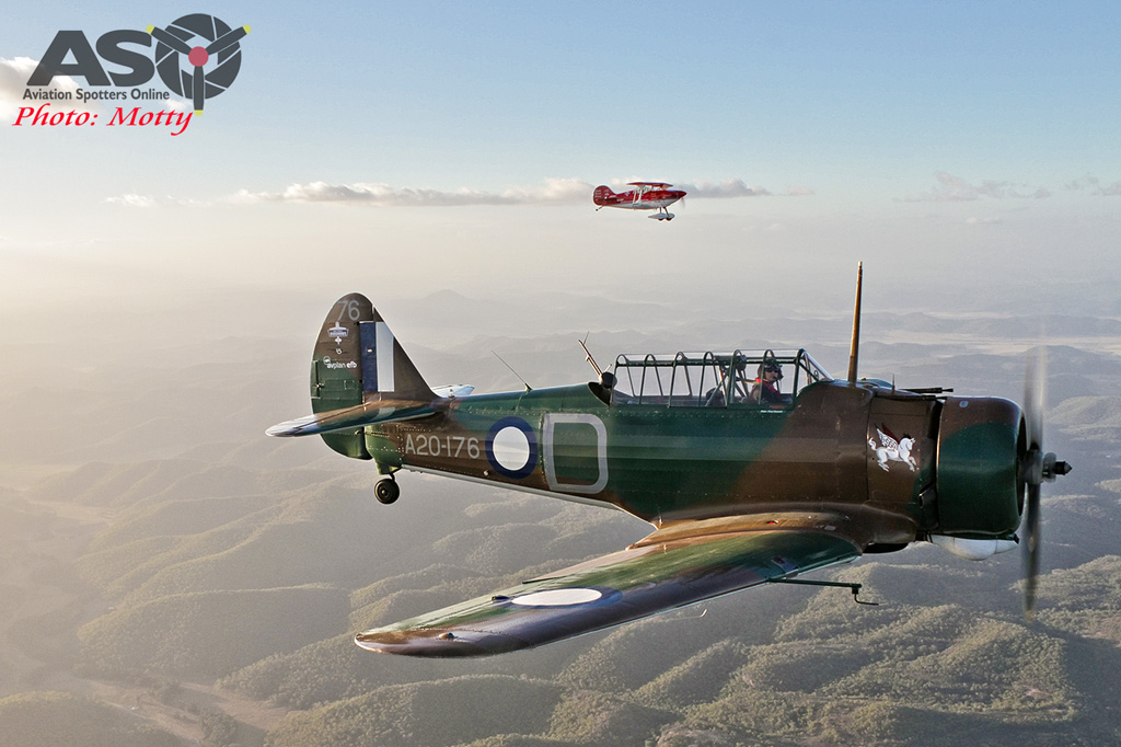 Mottys Paul Bennet Airshows Wirraway VH-WWY A2A 0370-ASO