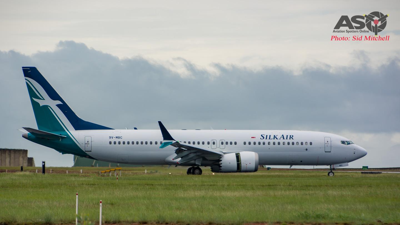 SilkAir's Boeing 737 MAX 8 slips into Darwin
