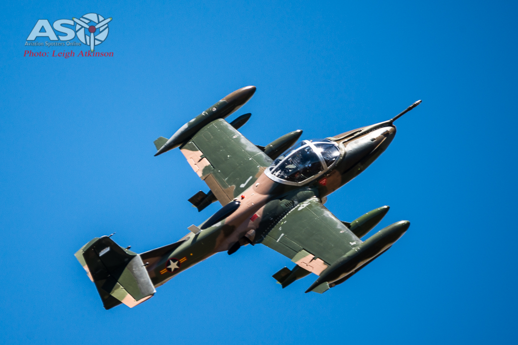 Cessna A37B Dragonfly – painting the sky!