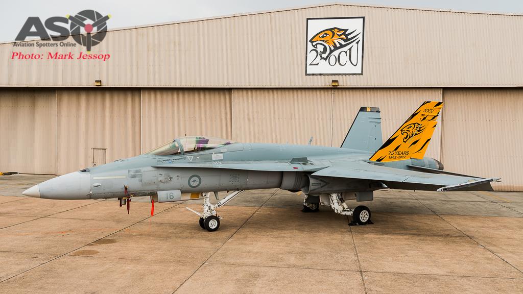 RAAF 2OCU 75th Anniversary F/A-18A Tail Scheme.