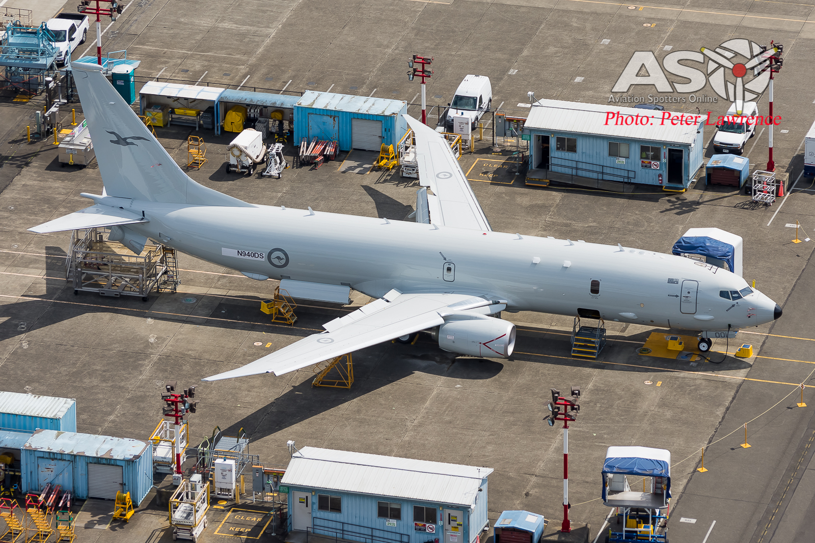 A brand new RAAF P-8…….From the Air!