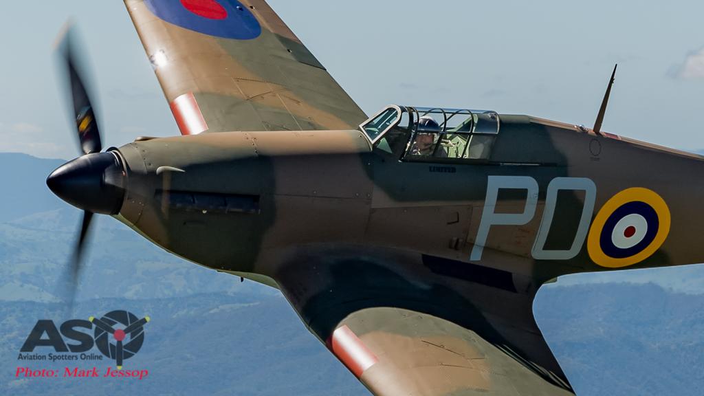 Hawker Hurricane flies in Australia