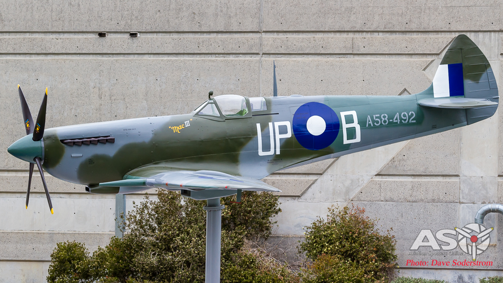 79 Squadron Spitfire replica dedication at the RAAF Museum Point Cook